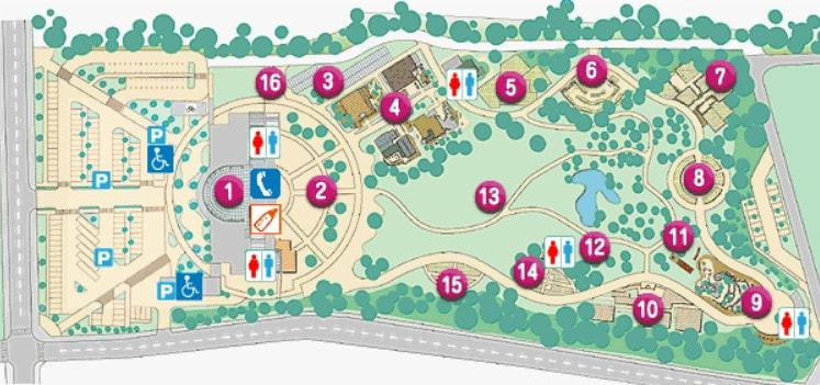 フローランテ宮崎の園内マップ