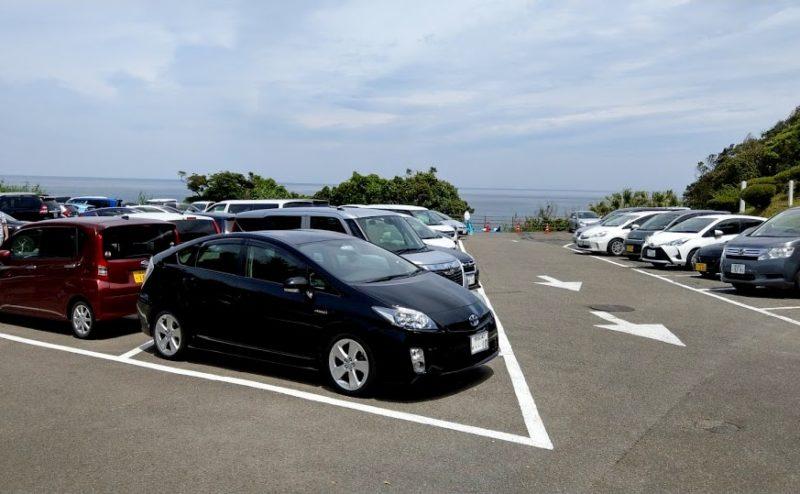 鵜戸神宮の第一駐車場